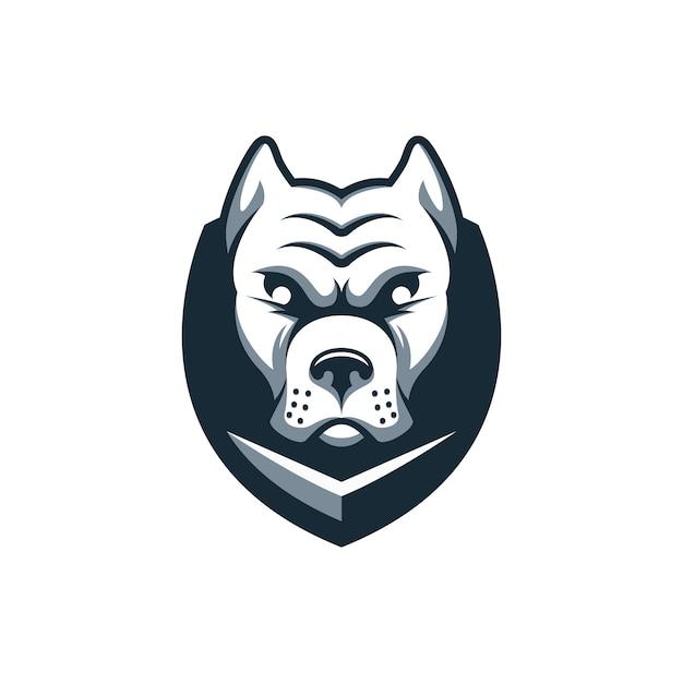 Hond schild logo Premium Vector