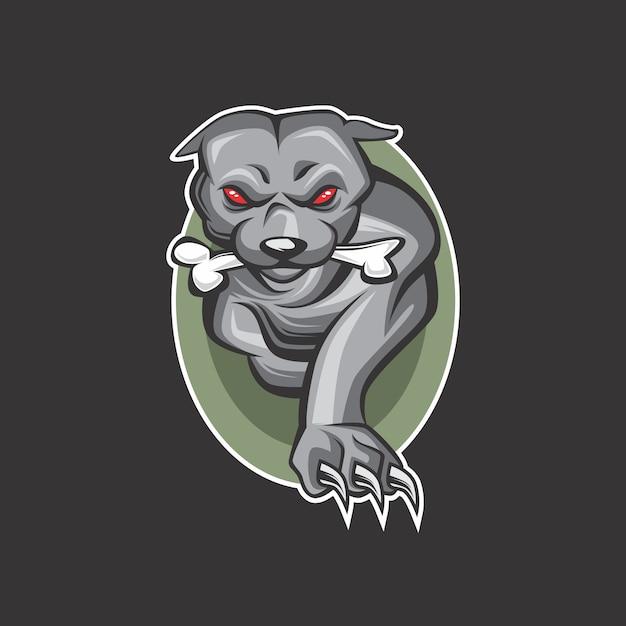 Honden logo Premium Vector
