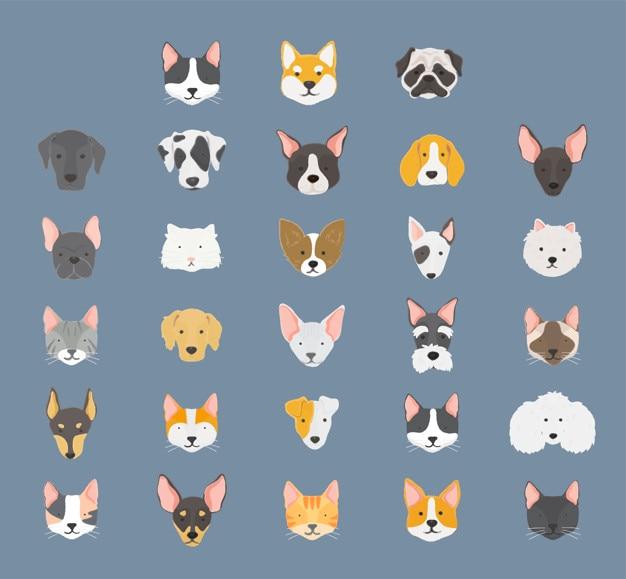 Honden verzameling Gratis Vector