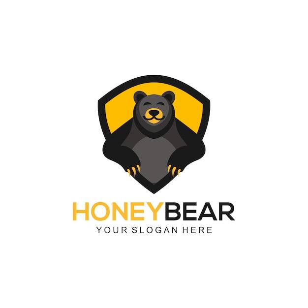 Honey bear-logo Premium Vector