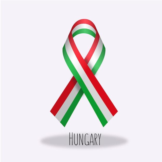 Hongarije vlag lint ontwerp Gratis Vector