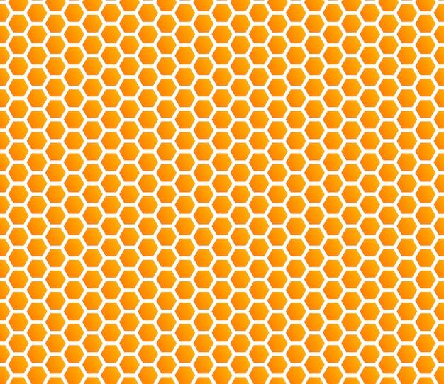 Honingraat honing naadloze patroon Premium Vector