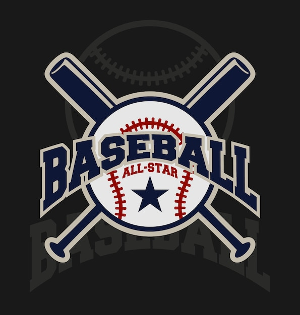 Honkbal achtergrond ontwerp Gratis Vector