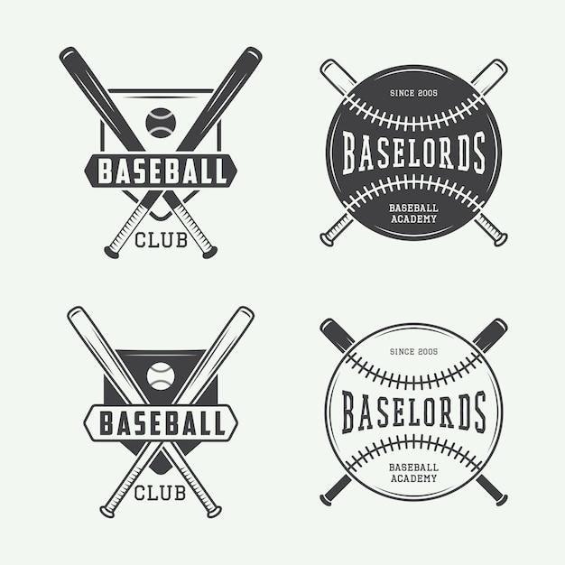 Honkbalemblemen, emblemen Premium Vector