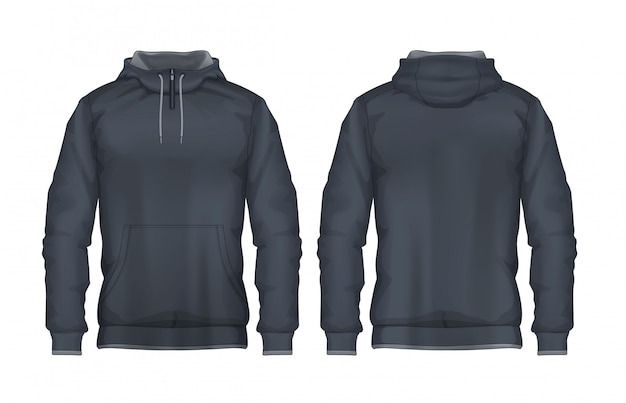Hoodie shirts sjabloon Premium Vector