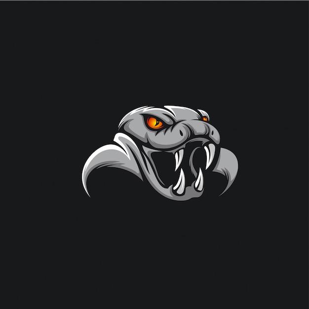 Hoofd cobra logo ilustration Premium Vector
