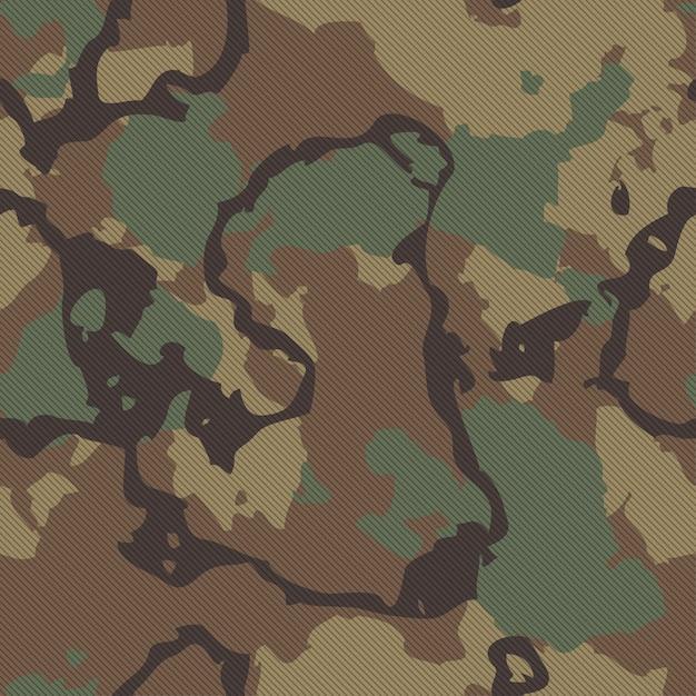 Hoogwaardige naadloze camouflagestoftextuur Premium Vector