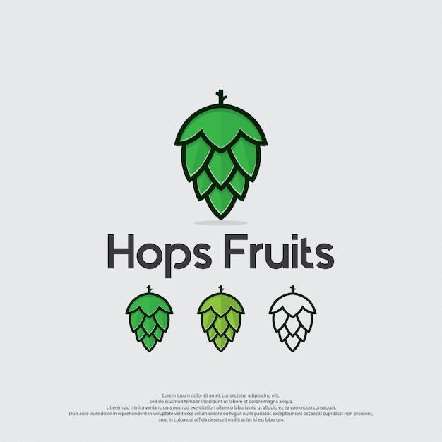 Hop vruchten pictogram vector Premium Vector