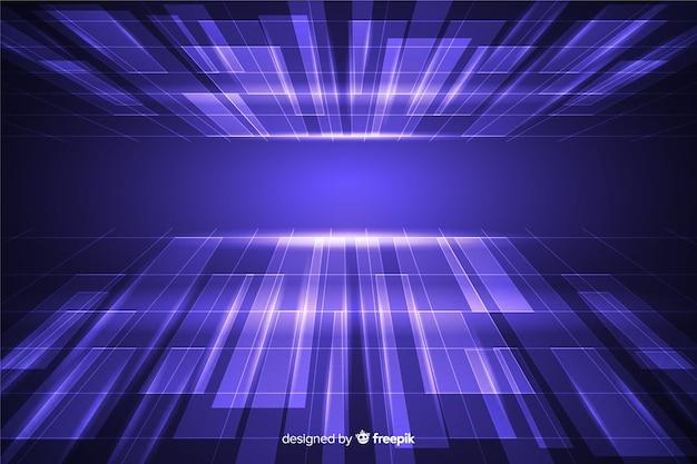 Horizondimensie met futuristisch ontwerp Gratis Vector