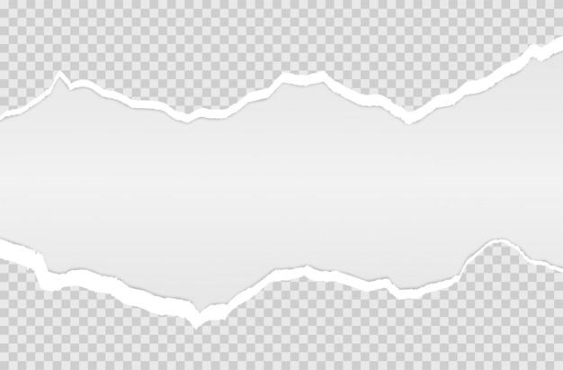 Horizontaal gescheurde papierrand. Premium Vector