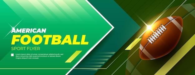 Horizontale banner voor amerikaans voetbalspel Gratis Vector