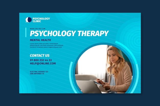 Horizontale banner voor psychologietherapie Gratis Vector
