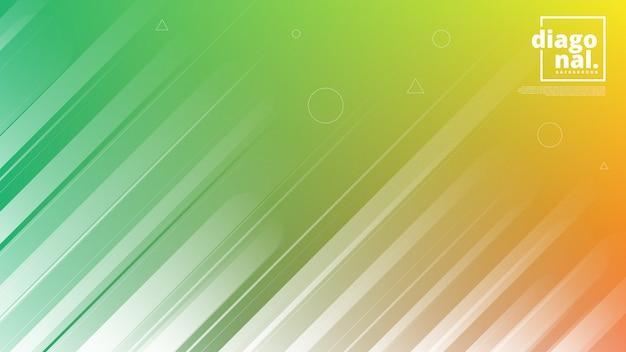 Horizontale banners met abstracte achtergrond en diagonale lijnvormen. Premium Vector