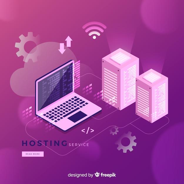 Hosting service achtergrond Gratis Vector