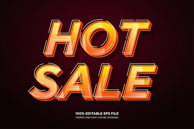 Hot sale tekststijleffect Premium Vector
