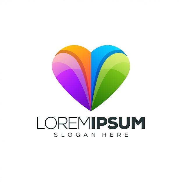 Hou van logo ontwerp vectorillustratie Premium Vector