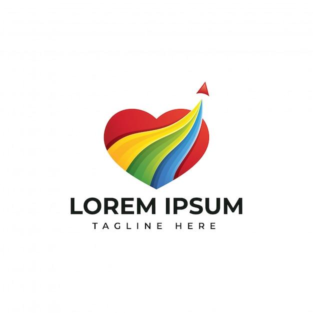 Hou van reizen logo sjabloon Premium Vector