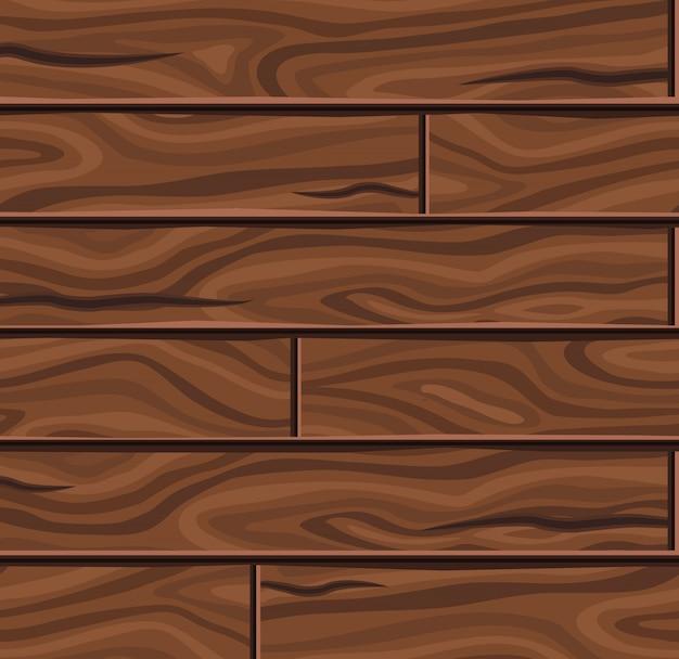 Houten horizontale planken achtergrond Gratis Vector