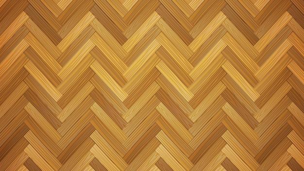 Houten parketvloer textuur, natuurlijke realistische houten vector achtergrond Premium Vector