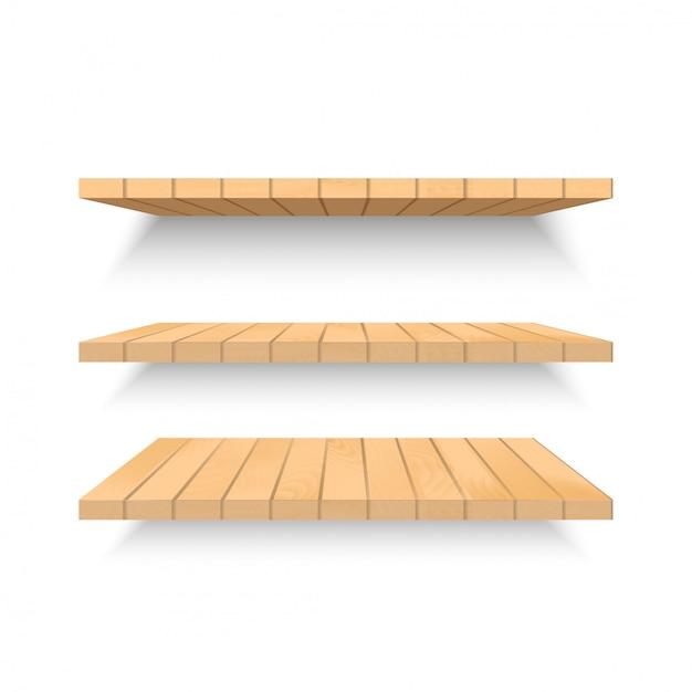 Muur Van Houten Planken.Houten Planken Op Muur Met Zachte Schaduw Vector Vector Premium
