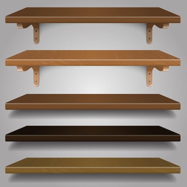 Houten planken Premium Vector