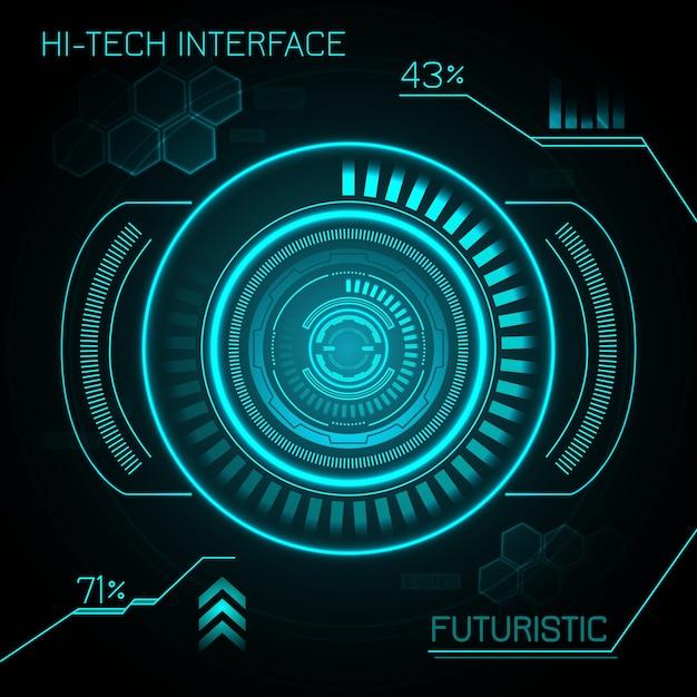 Hud futuristische achtergrond Gratis Vector