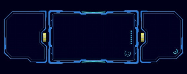 Hud interface ui sjabloon cyber innovatieve concept achtergrond Premium Vector