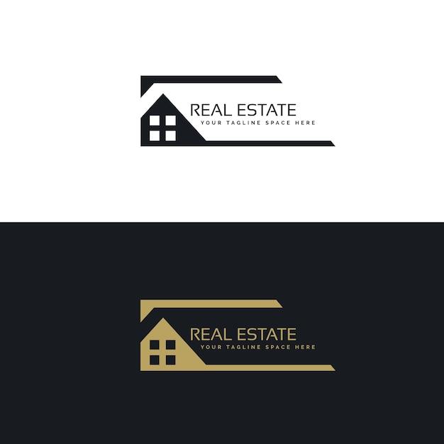 Huis of woning logo ontwerp in creatieve stijl vector for Empresas constructoras de casas