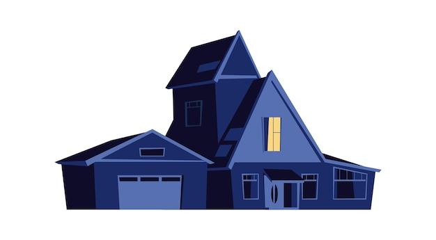 Huis 's nachts Gratis Vector