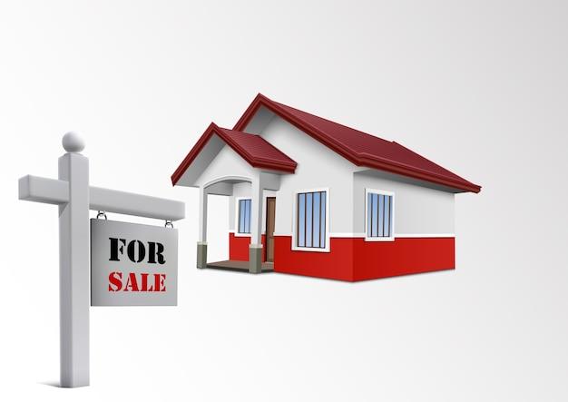 Huis te koop pictogram Premium Vector
