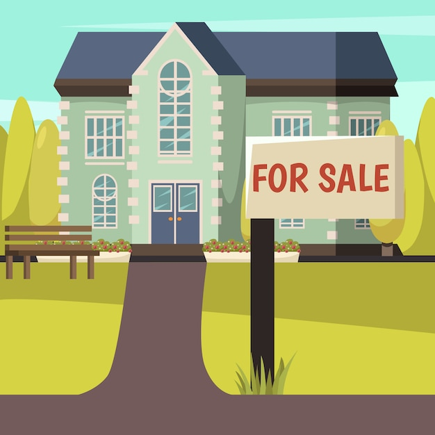 Huis te koop Gratis Vector