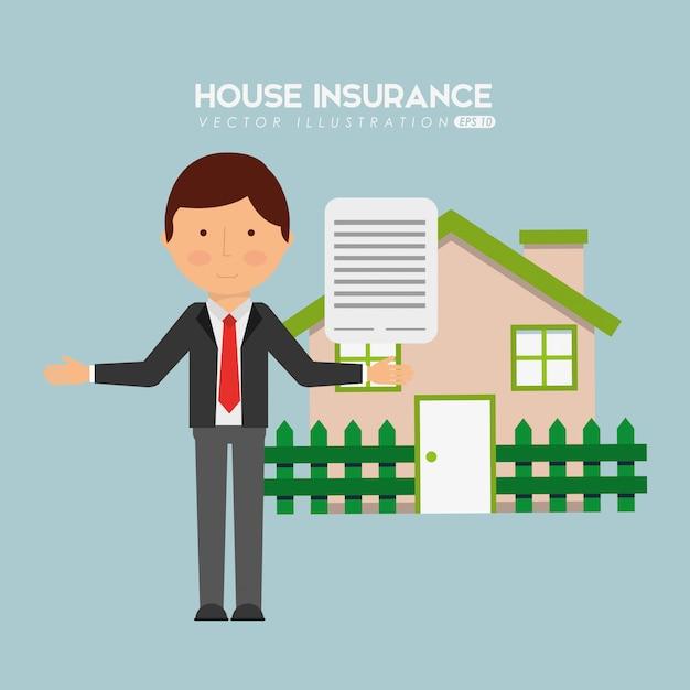 Huis verzekering Gratis Vector