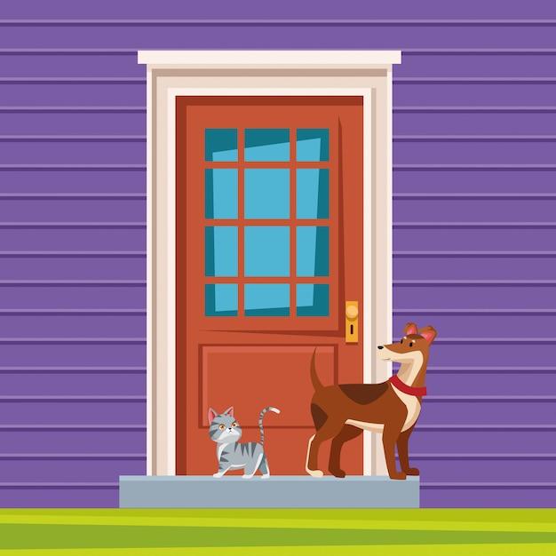 Huisdieren en huisdierenpictogram Gratis Vector