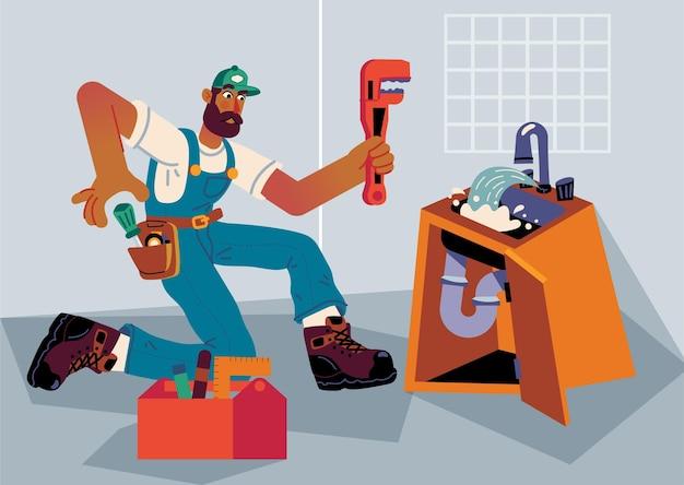 Huishoudelijke en renovatieberoepen Gratis Vector