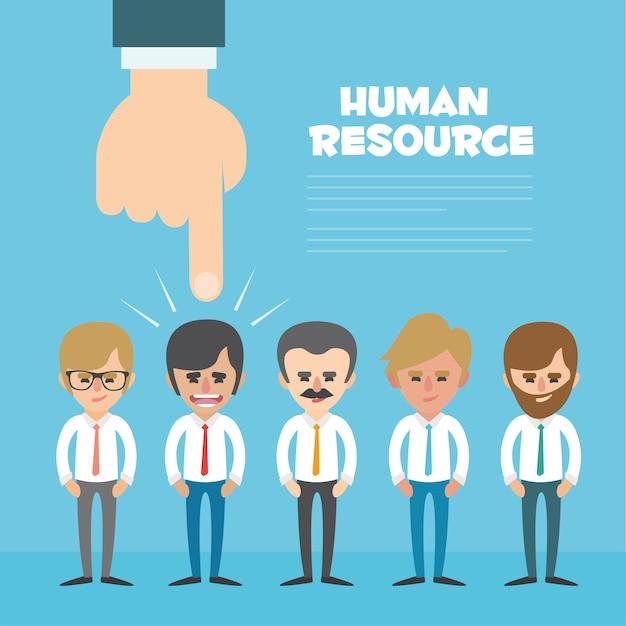 Human resources achtergrond ontwerp Gratis Vector