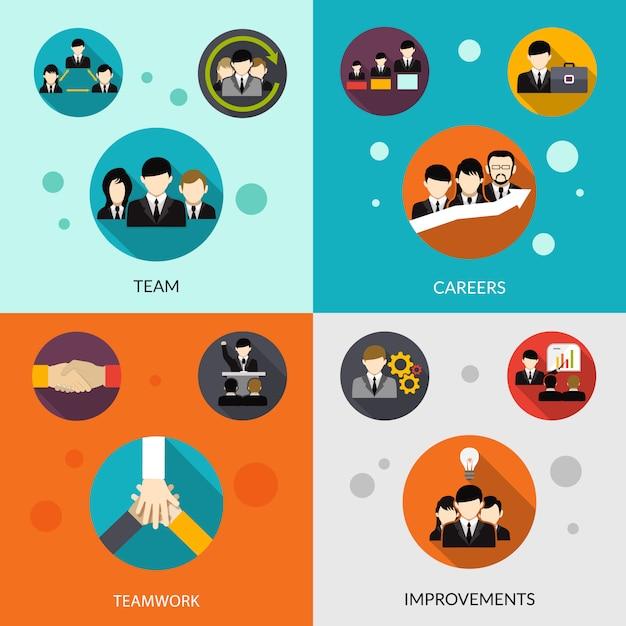 Human resources set Gratis Vector