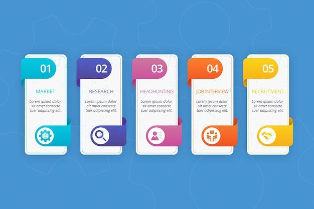 Huurproces infographic Premium Vector