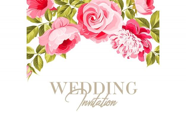 Huwelijk uitnodigingskaart. Premium Vector