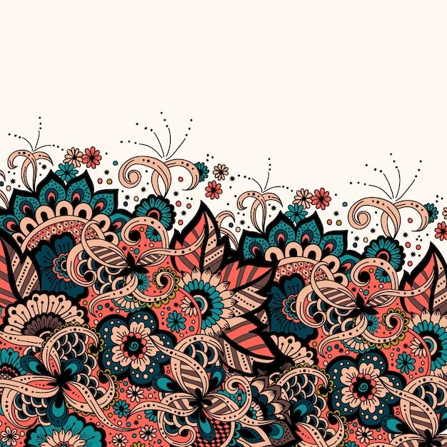 Huwelijksuitnodiging en aankondigingskaart met ornament in arabische stijl. arabesk patroon. Gratis Vector