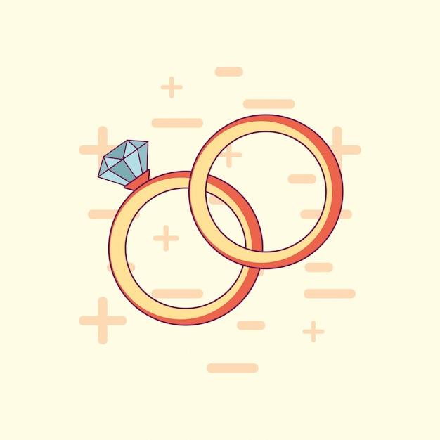 Huwelijksviering ontwerp Premium Vector