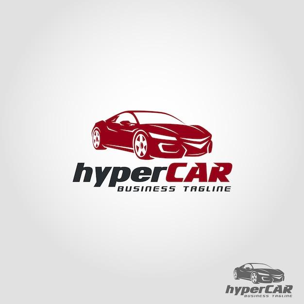 Hyper car logo template Premium Vector