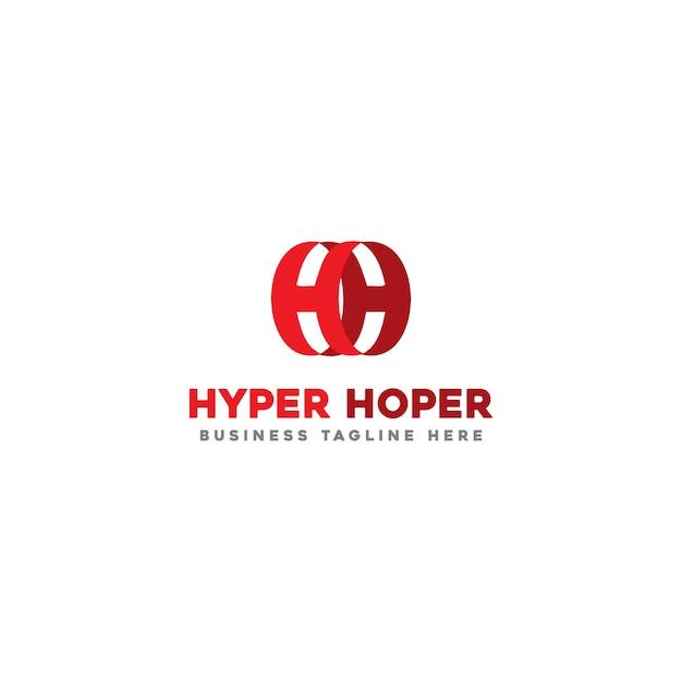 Hyper hoper logo sjabloon Premium Vector