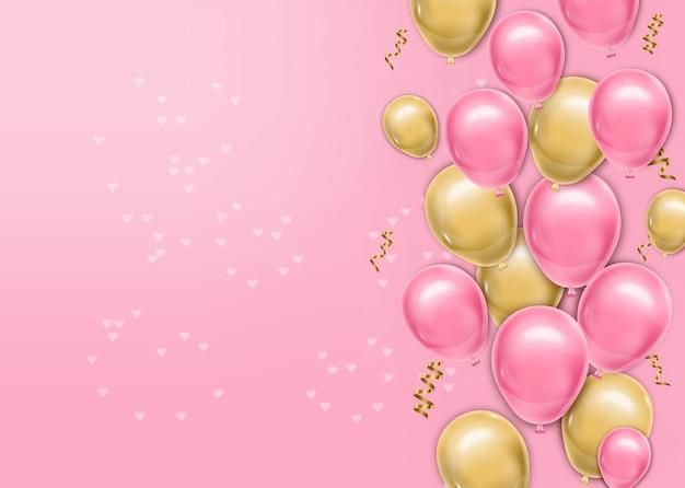 Hyper realistische ballonnen achtergrond Premium Vector