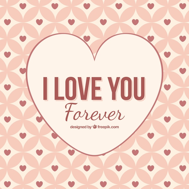 I Love You Forever Achtergrond Vector Premium Download
