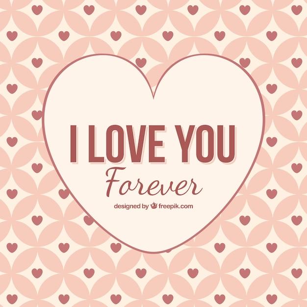 I love you forever achtergrond vector premium download i love you forever achtergrond premium vector voltagebd Images