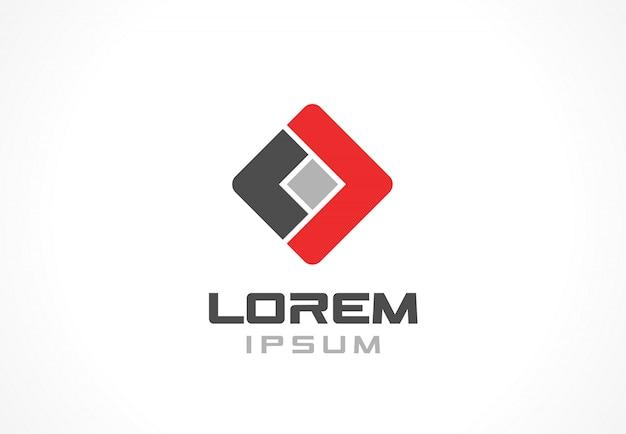 Icoon element. abstract logo idee voor bedrijf. financiën, communicatie, technologie en verbindingsconcepten. pictogram voor huisstijl sjabloon. stock illustratie Premium Vector
