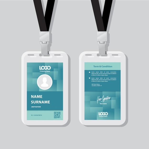 Id-kaart Premium Vector