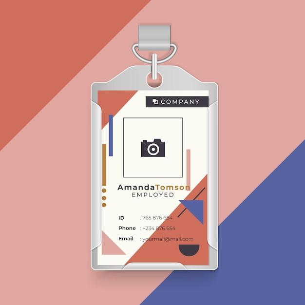 Id-visitekaartje met geometrische vormen Gratis Vector