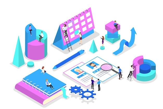 Idee van strategie en prestatie in teamwerk Premium Vector