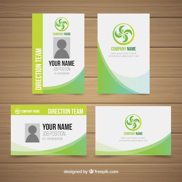 Identiteitskaart-sjabloon Gratis Vector